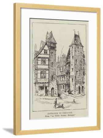 Entrance to Treguier--Framed Giclee Print
