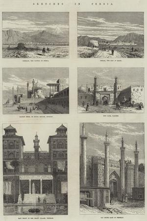 Sketches in Persia--Framed Giclee Print