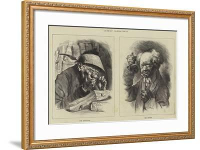 German Caricatures--Framed Giclee Print