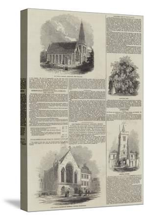 Various Churches--Stretched Canvas Print