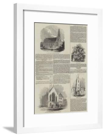Various Churches--Framed Giclee Print