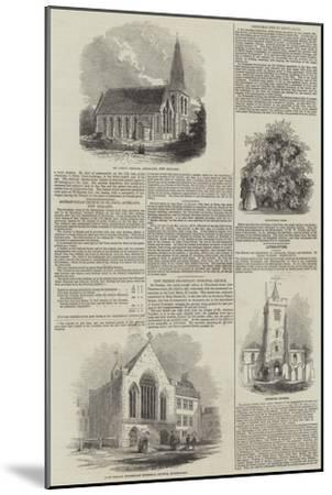 Various Churches--Mounted Giclee Print