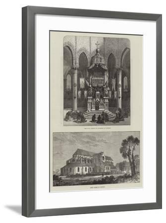 Pontigny Abbey--Framed Giclee Print
