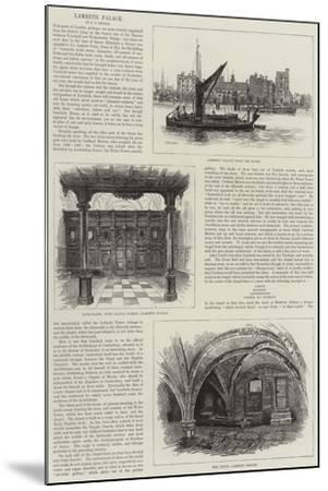 Lambeth Palace--Mounted Giclee Print