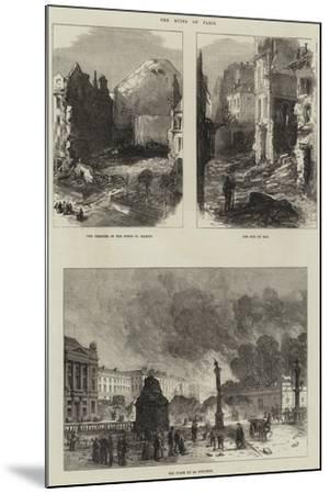 Paris Commune--Mounted Giclee Print