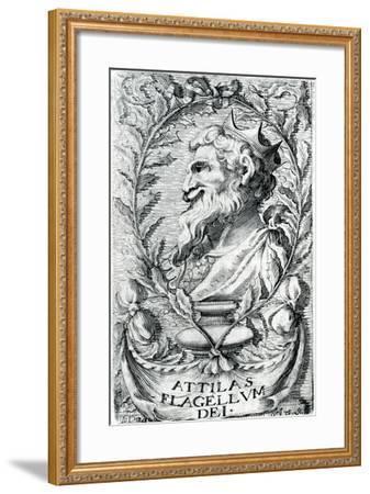 Attila the Hun--Framed Giclee Print