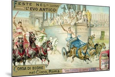Chariot Race in the Circus, Rome--Mounted Giclee Print