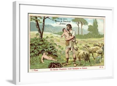 The Shepherd Faustulus Finds Romulus and Remus--Framed Giclee Print