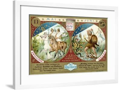 May and June: Gemini and Cancer--Framed Giclee Print