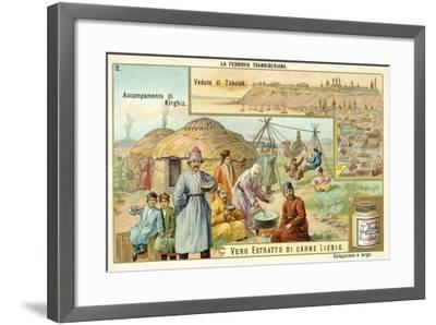 Scenes on the Trans-Siberian Railway--Framed Giclee Print