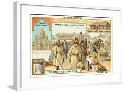 Scenes on the Trans-Siberian Railway--Framed Giclee Print