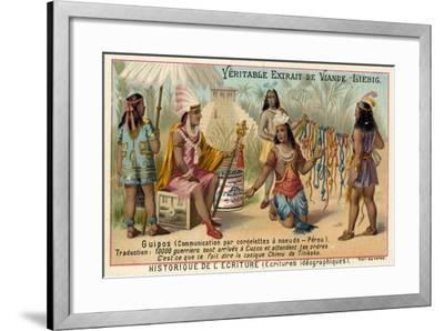 Quipus, System of Communication Using Knotted Strings, Peru--Framed Giclee Print