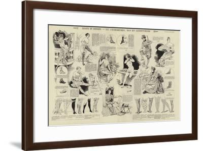 Dessus Et Dessous, Chaussures, Bas Et Jarretieres--Framed Giclee Print