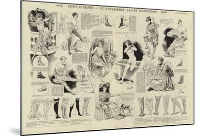 Dessus Et Dessous, Chaussures, Bas Et Jarretieres--Mounted Giclee Print