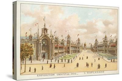 The Esplanade, Exposition Universelle 1900, Paris--Stretched Canvas Print