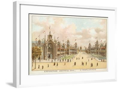 The Esplanade, Exposition Universelle 1900, Paris--Framed Giclee Print