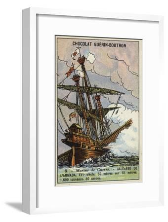 Galleass of the Spanish Armada, 16th Century--Framed Giclee Print