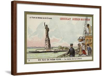 In Sight of New York - the Statue of Liberty--Framed Giclee Print