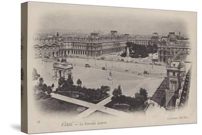 Paris, Le Nouveau Louvre--Stretched Canvas Print
