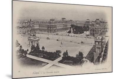 Paris, Le Nouveau Louvre--Mounted Giclee Print