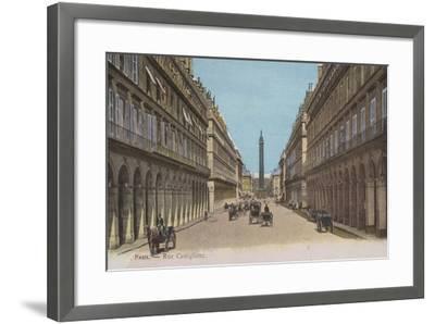 Paris, Rue Castiglione--Framed Giclee Print