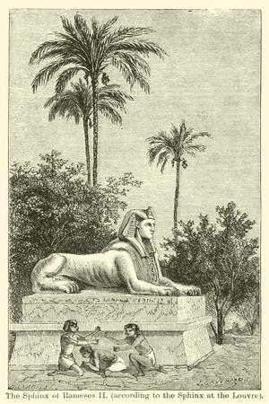 The Sphinx of Rameses Ii, According to the Sphinx at the Louvre--Framed Giclee Print