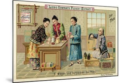 Weighing and Packing Tea--Mounted Giclee Print