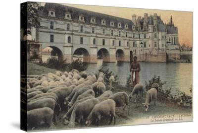 Chenonceaux, Le Chateaux, La Facade Orientale--Stretched Canvas Print
