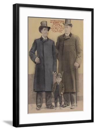 Extremes in Height--Framed Giclee Print