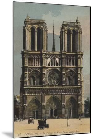 Paris, Notre Dame--Mounted Giclee Print