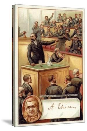 Adolphe Thiers Acclaimed in the French National Asssembly--Stretched Canvas Print