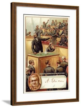Adolphe Thiers Acclaimed in the French National Asssembly--Framed Giclee Print