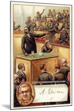 Adolphe Thiers Acclaimed in the French National Asssembly--Mounted Giclee Print