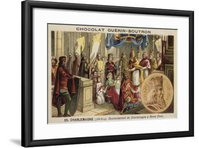 Coronation of Charlemagne as Emperor, Rome, 800--Framed Giclee Print