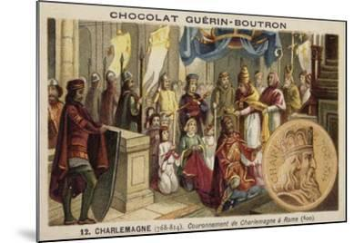 Coronation of Charlemagne as Emperor, Rome, 800--Mounted Giclee Print