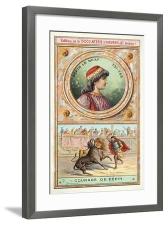The Courage of Pepin the Short, 8th Century--Framed Giclee Print