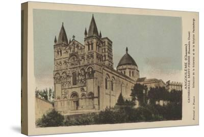 Angouleme, Charente, Cathedrale Saint-Pierre--Stretched Canvas Print