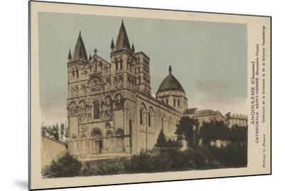 Angouleme, Charente, Cathedrale Saint-Pierre--Mounted Giclee Print
