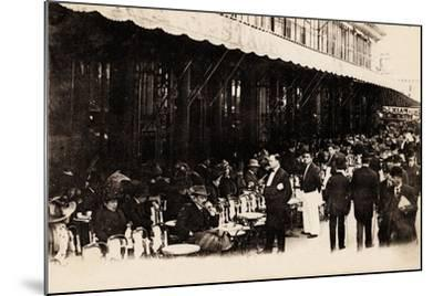 Cafe of Les Grands Boulevards, Paris, 1910--Mounted Giclee Print
