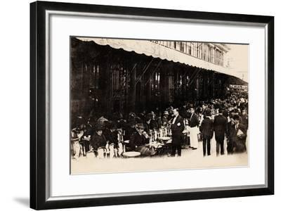 Cafe of Les Grands Boulevards, Paris, 1910--Framed Giclee Print