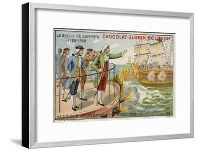Pierre Andre De Suffren, Victor over the British Fleet Off India, 1782--Framed Giclee Print