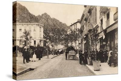 Cafe and Tabac, Beaulieu Sur Mer, 1911--Stretched Canvas Print