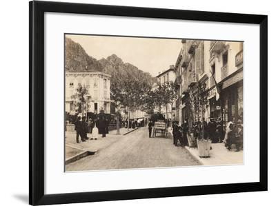 Cafe and Tabac, Beaulieu Sur Mer, 1911--Framed Giclee Print