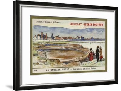 In the Russian Caucasus - the Oil Lakes of Baku--Framed Giclee Print