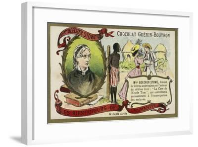 Harriet Beecher Stowe, American Abolitionist and Author--Framed Giclee Print