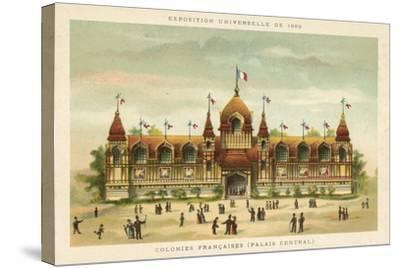 French Colonies (Central Palace), Exposition Universelle 1889, Paris--Stretched Canvas Print