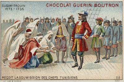 Rene Duguay-Trouin Accepting the Surrender of Tunisian Chiefs--Framed Giclee Print