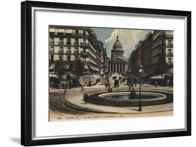 Paris, La Rue Soufflot, Le Pantheon--Framed Giclee Print