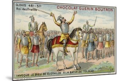 Clovis I Invoking the God of Clotilde at the Battle of Tolbiac, 496--Mounted Giclee Print