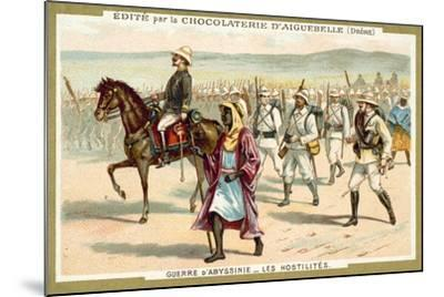 Italian Troops on the March, First Italo-Ethiopian War, 1896--Mounted Giclee Print